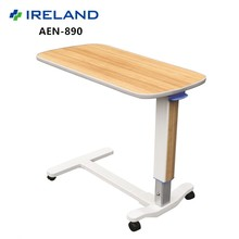 AEN-890 Hospital Bed Tray Dine Table With Wheels