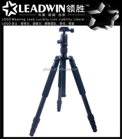 LW-PT04C high quality compact-reverse flexible carbon fiber travel tripod for camera accessories