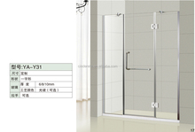 Factory made simple tempered glass shower room/shower enclosure