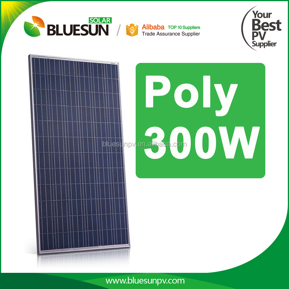 China hot sale and easy install photovoltaic 300watt poly solar panel 300w for home system