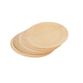 Wholesale Natural disposable Round Bamboo Plates