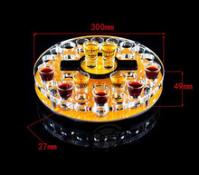 high quality round shape acrylic wine rack/ beer cup stand holder/wine display stand