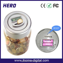 New design digital money / coin counter jar digital bottle money box for kids with great price