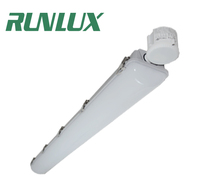 DLC Approved dimming 347V 4ft Light Fixture LED IP65 tri-proof led light waterproof vapor tight fixture