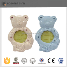 new style funny bear figurines nice ceramic decoration love photo frame