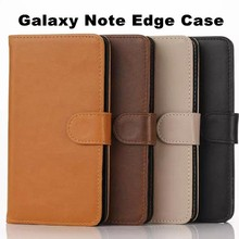 Hot Sale Classic Luxury Leather Case For Samsung Note Edge N9150 Stand Wallet Cover With Card Slot