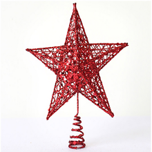Festive and party supplies christmas tree decorations metal star