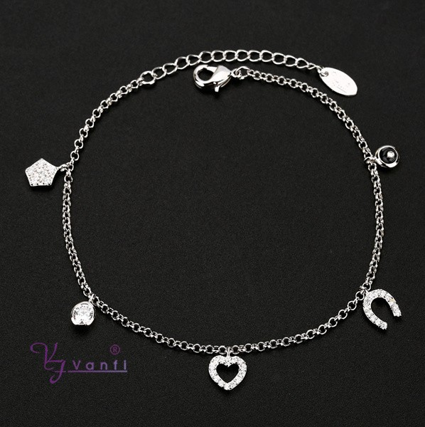 2015 fashion silver handmade charms chain crystal viking bracelet
