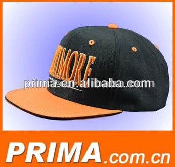 3D embroidery wholesale cheap price 100% cotton flat snapback caps and hats
