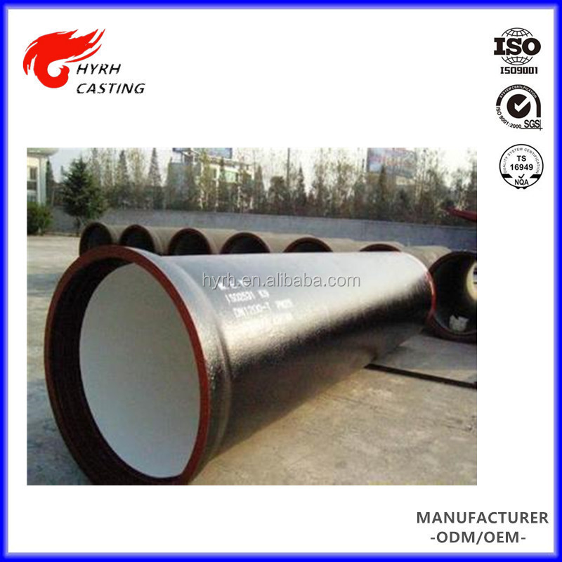 DN 100mm 150mm 200mm K8 K9 K10 ductile iron pipe rates