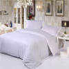 China cheap white satin stripe bedding set fabric for hotel