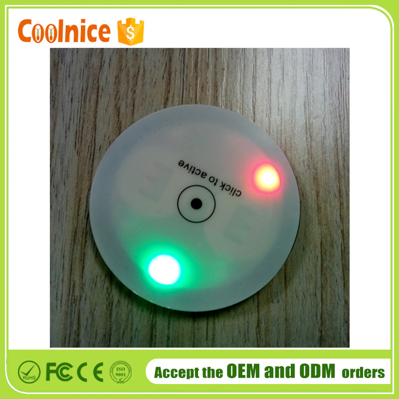 Event Party Application Table Decoration EVA LED Light Drink Coasters