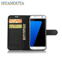 Phone accessories mobile leather wallet case for Samsung Galaxy S7 S7 edge S8 S8 plus flip cover