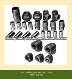 Electro Galvanized malleable iron pipe fitting 90 Elbows Banded equal