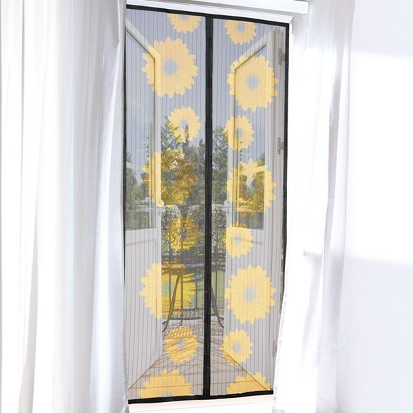 magnetic hand free anti insect mosquito door net mesh screen protector