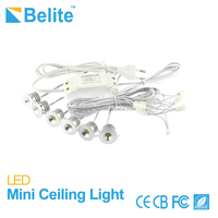 china led cabinet light 2W*6pcs cut out 20mm IP64 silver sand color mini cob down light