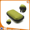 green Rectangle Shaped Hard Earphone Headset EVA Case for MP3/MP4 Bluetooth Earphone Earbuds with Zipper Enclosure