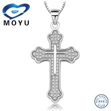 2015fashion jewelries wholesale cross pendant in top quality 925 silver low price fast delivery