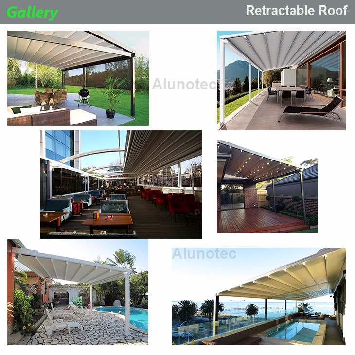 aluminum retractable pvc pergola fabric roof buy pergola fabric roof pvc pergola retractable. Black Bedroom Furniture Sets. Home Design Ideas