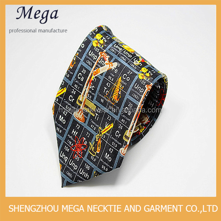 New Design Pattern bulk black men custom print silk tie