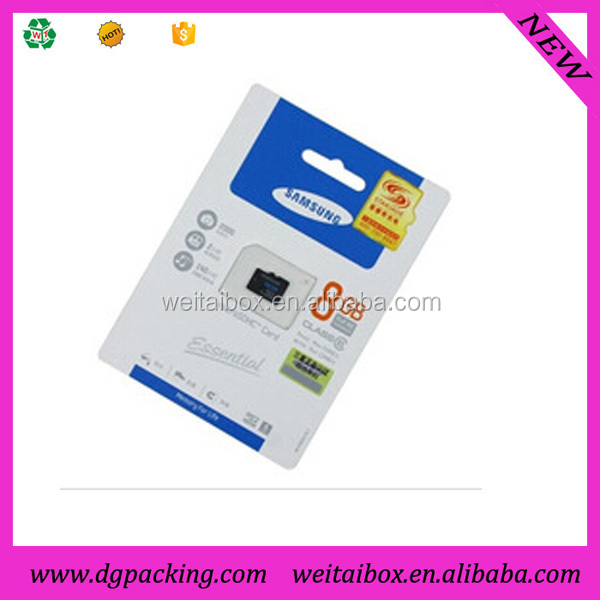 well designed Custom plastic SD card memory card blister packaging