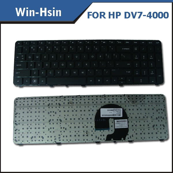 Replacement new us black laptop keyboard for HP DV7-4000 series keyboard