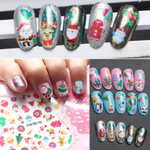 Fashion 3D nail design Gitter Christmas nail sticker accessories