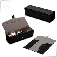 Luxury storage display pu leather wine 5 liter box