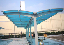 transparent solar panels 100% ge lexan material solid polycarbonate for car parking shed