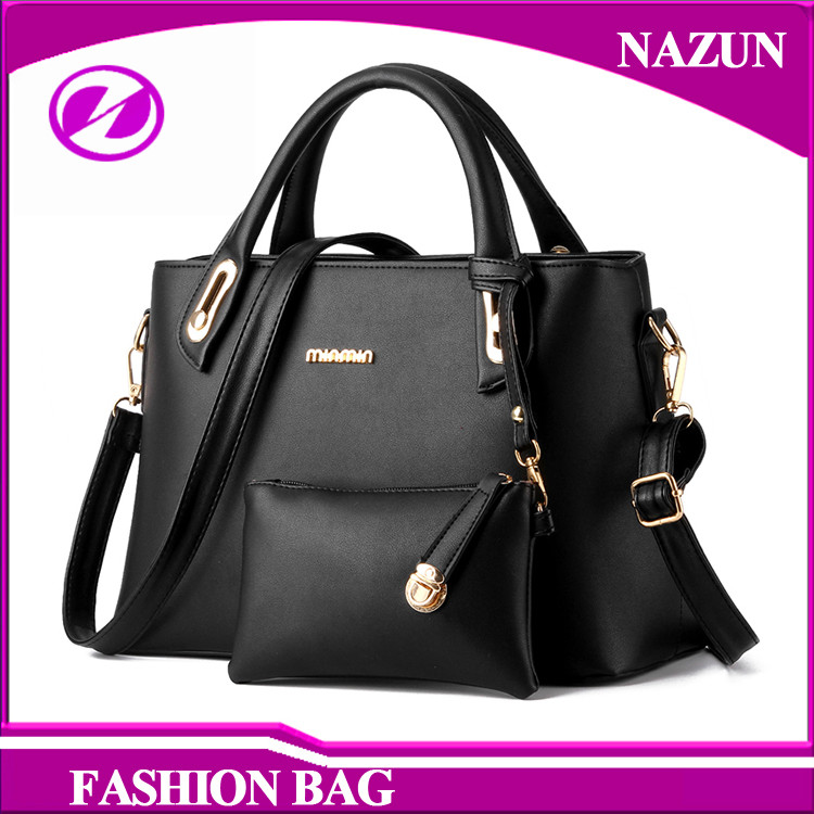 China supplier bulk buy women purse and handbags 2 pieces fashion design purse handbags