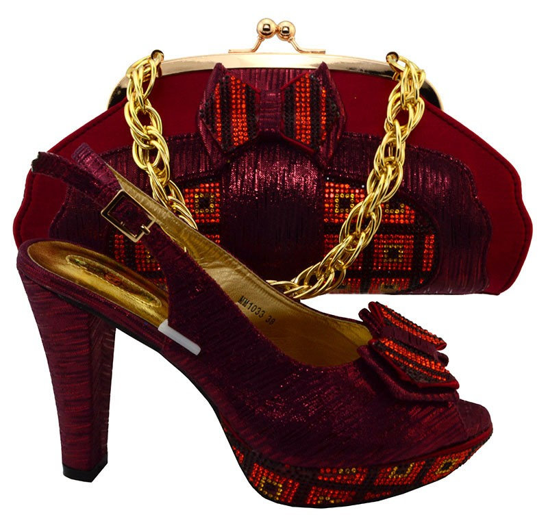 China Suppliers Italian Shoes And Bag Set, African Women Shoes