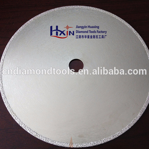 #50/60 Continuous rim Vacuum Brazed diamond blades for cutting fiber glass