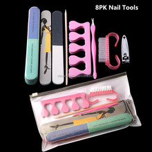 Wholesela 8PK Manicure Tools High Quality Nail Care Tools and Equipment Professional Care Nail Art Tool