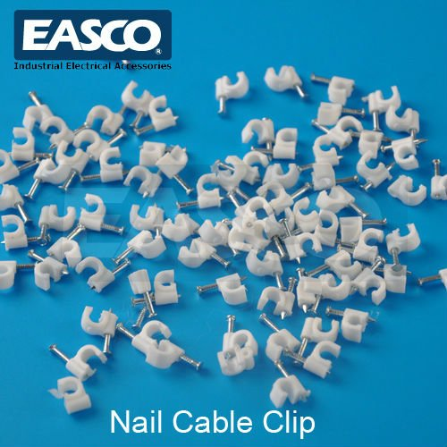 EASCO Plastic Nail Hook Cable Clip