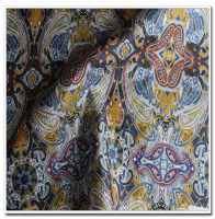 Paisley Designed Printed Men's Luxury Suit Two-Tone lining Fabric