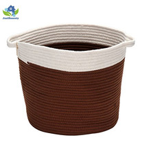 Multipurpose Cotton rope handle storage box for living room