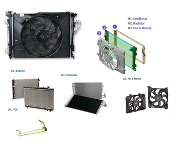 Condenser Auto Engine Cooling System for Hyundai, Kia, Daewoo, Ssangyong, Samsung and others