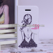 FL3050 2013 Guangzhou oem hot selling wallet leather flip case cover for iphone 5