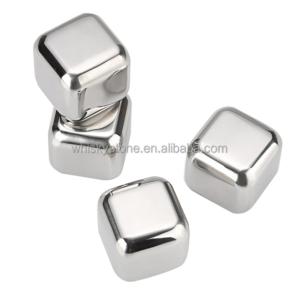 Stainless steel whisky stone for cooling wine drinks metal ice cubes / whisky stones /