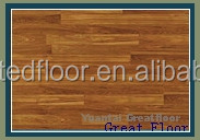 Affordable alternative embossed wood grain surface laminate floor