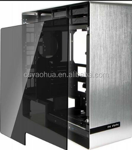 computer cases tinted grey tempered glass