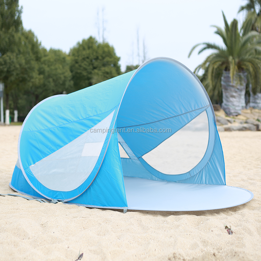 2018 Factory Wholesale Automatic Pop Up UV50 Beach Camping Sun Shade Shelter Tent