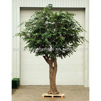 5m Large Artificial Green Weeping Fig Tree