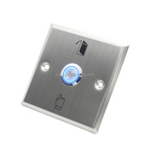 Stainless steel door exit button with LED light for night use good quality door control exit switch door release button
