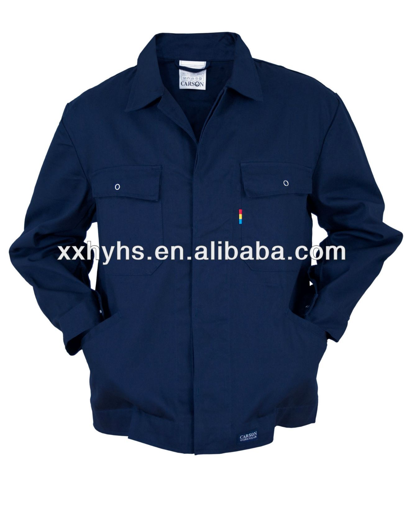 65% POLY 35% COTTON T/C FABRIC COMBINATION COLOR WORKWEAR JACKET