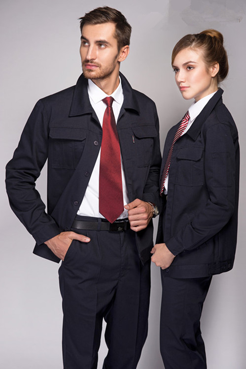 China thick canvas single deck long sleeves workwear uniforms