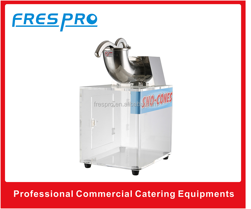 Commercial snow cone ice smashing machine