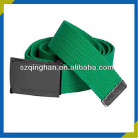 Excellent Metal Buckle Green Military Custom Canvas Belt For Men