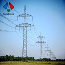 400kv electric power 220kv double circuit pole overhead transmission line galvanized 4 legs angle steel towers