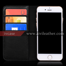 2016 Newest Mobile Phone Cover For Iphone 7 4.7 Inch Leather Protective Case With Cowhide Skin Real Leather Material
